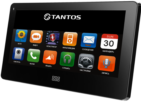 Видеодомофон TANTOS NEO Slim (Black)